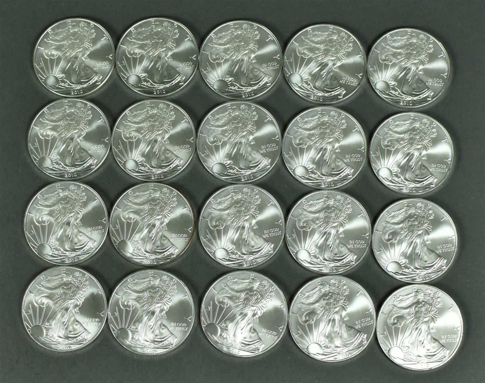 Tube of 2010 Silver Eagles