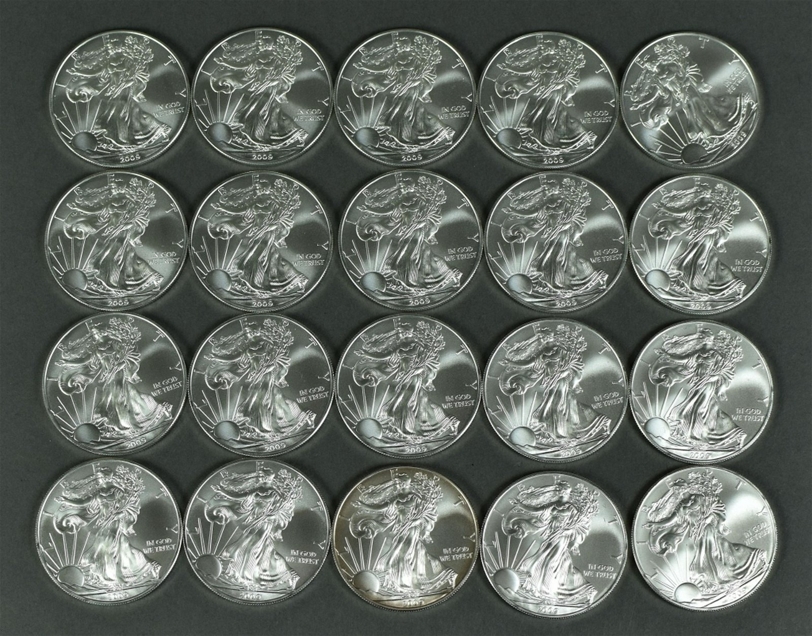 Tube of 2009 Silver Eagles
