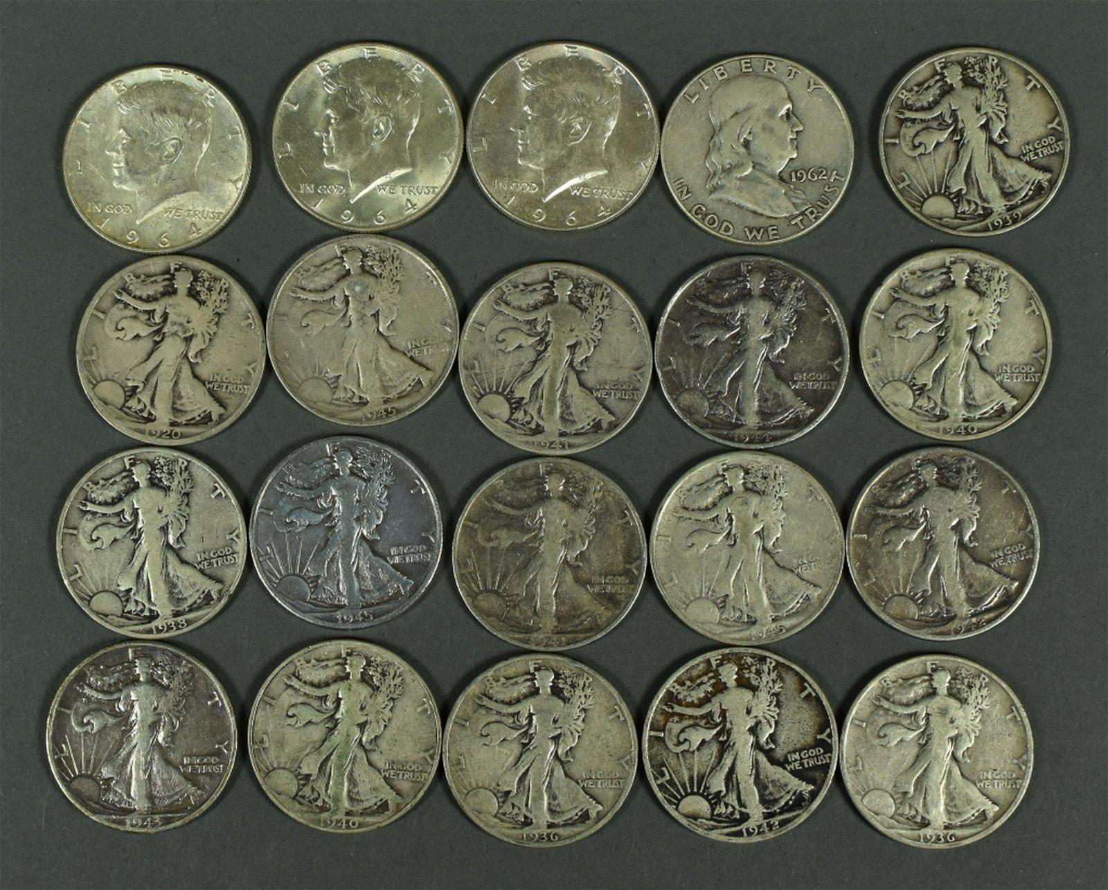 90% Silver Half Dollar Lot