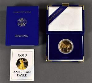 1896 One Ounce Gold Eagle Coin