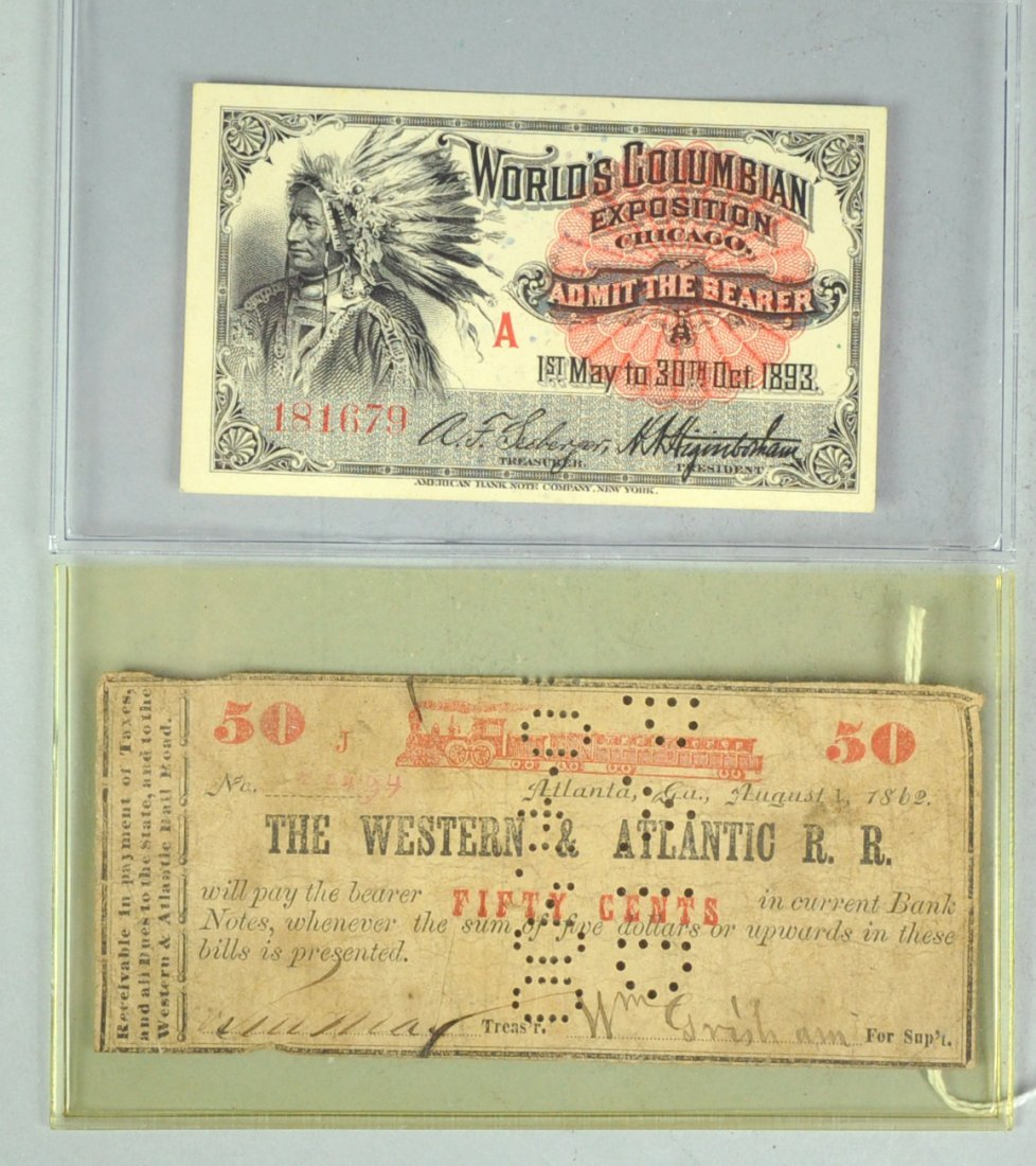 5: World's Columbian Exposition (Chicago) Ticket for Ad