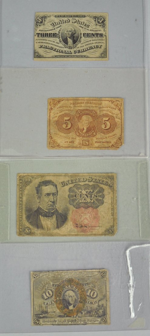 7: Four Fractional Currency Notes