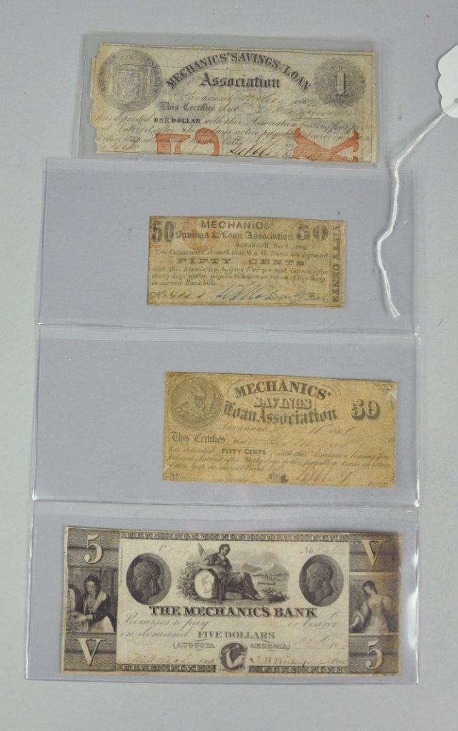 9: Four Mechanics' Savings Loan Association (Bank) Note