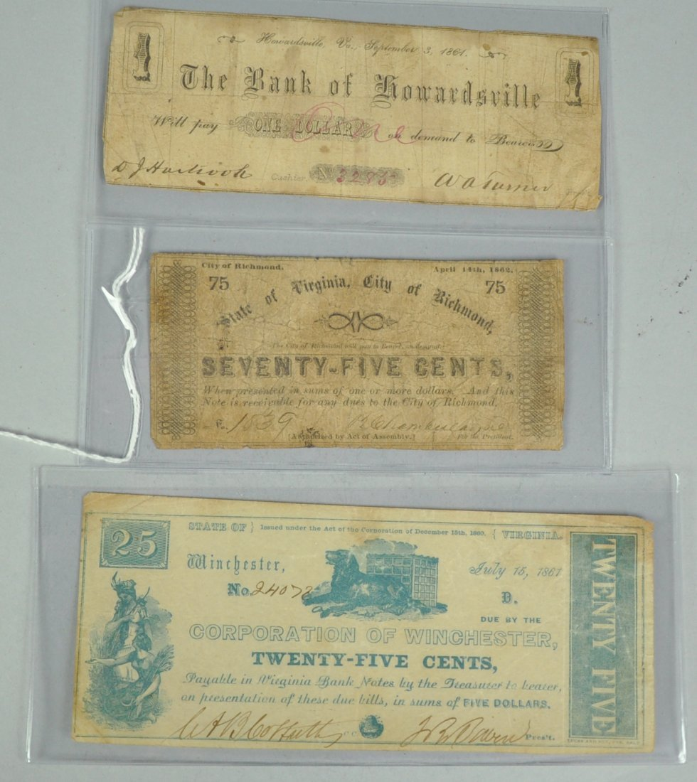 10: Three Scarce Obsolete Notes from Virginia in the Ci