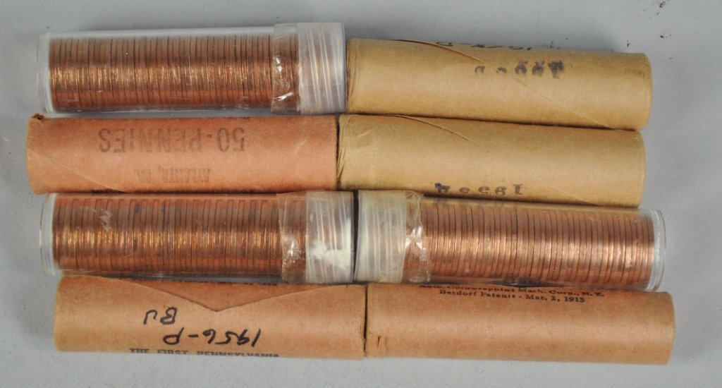 18: Eight Rolls of BU Lincoln Wheat Cents