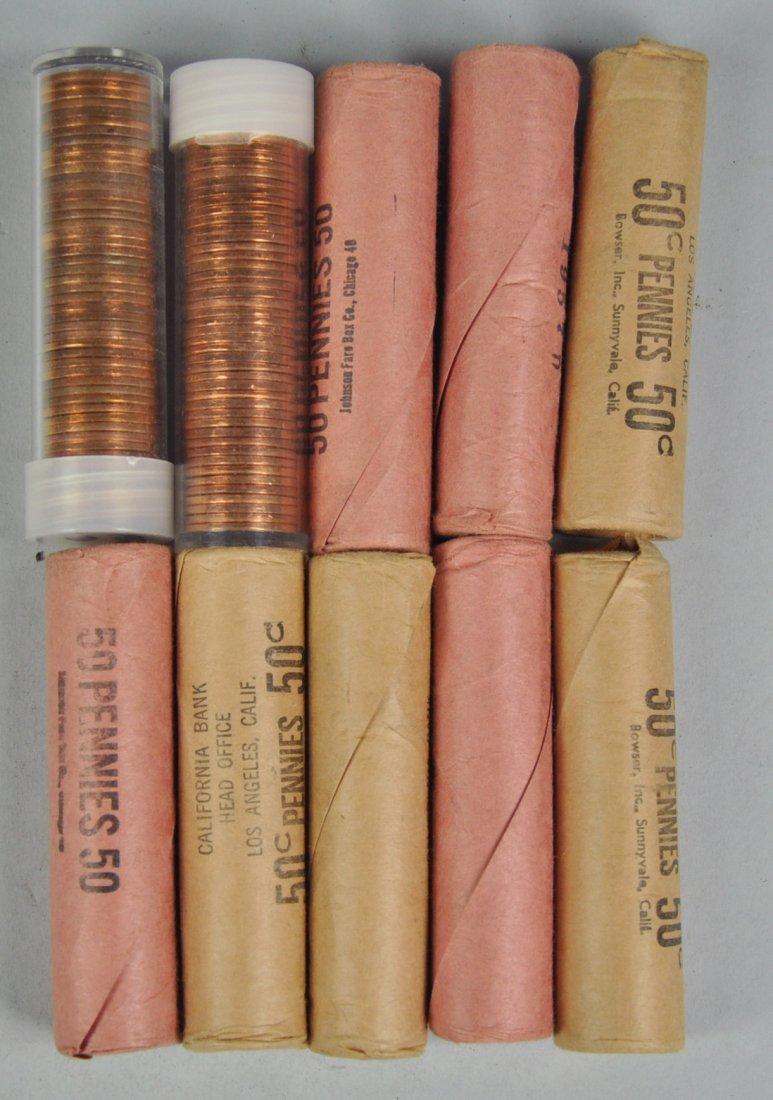 22: Ten Rolls of BU Lincoln Wheat Cents