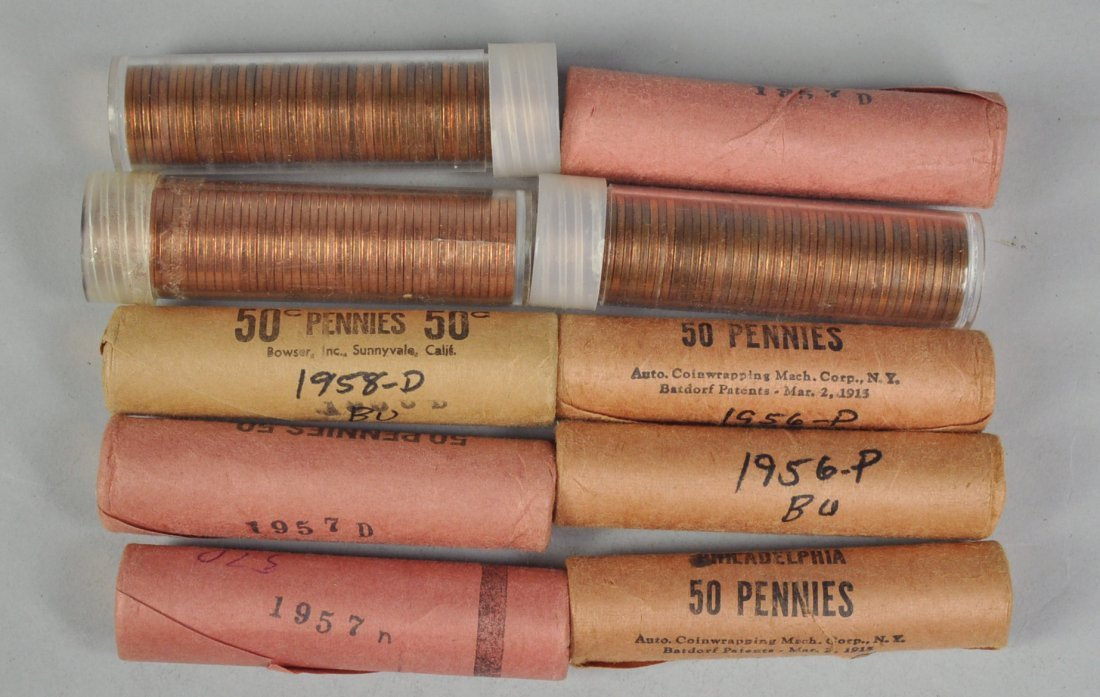 23: Ten Rolls of Lincoln Wheat Cents