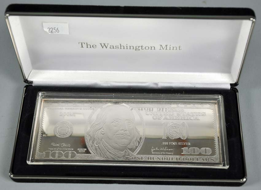 "6 Troy Ounces of .999 Silver ""$100 Note"" Series 2004"
