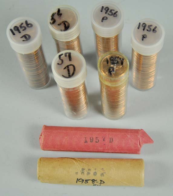Eight Rolls of BU Lincoln Wheat Cents