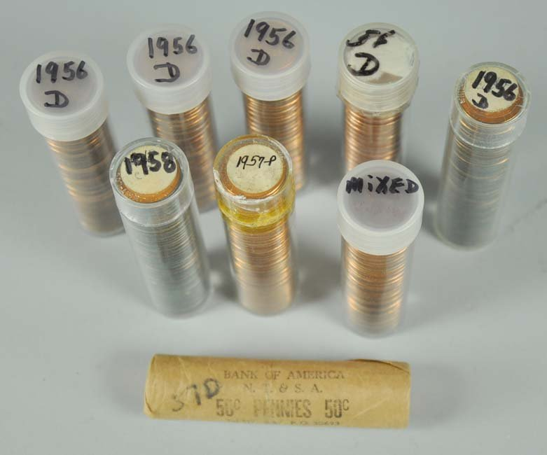 Nine Rolls of BU Lincoln Wheat Cents