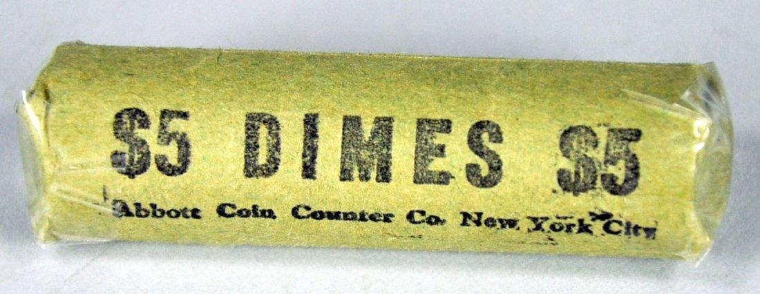 Roll of Mercury 90% Silver Dimes
