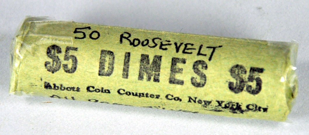 Roll of Roosevelt Silver (90%) Dimes