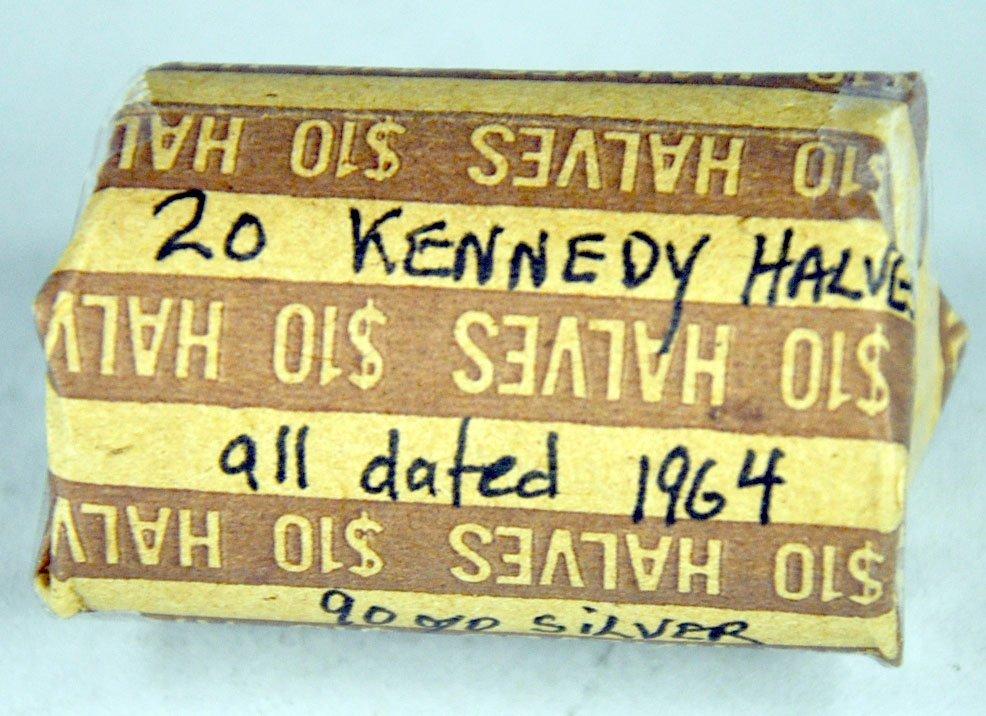 Roll of 1964 Kennedy Half Dollars