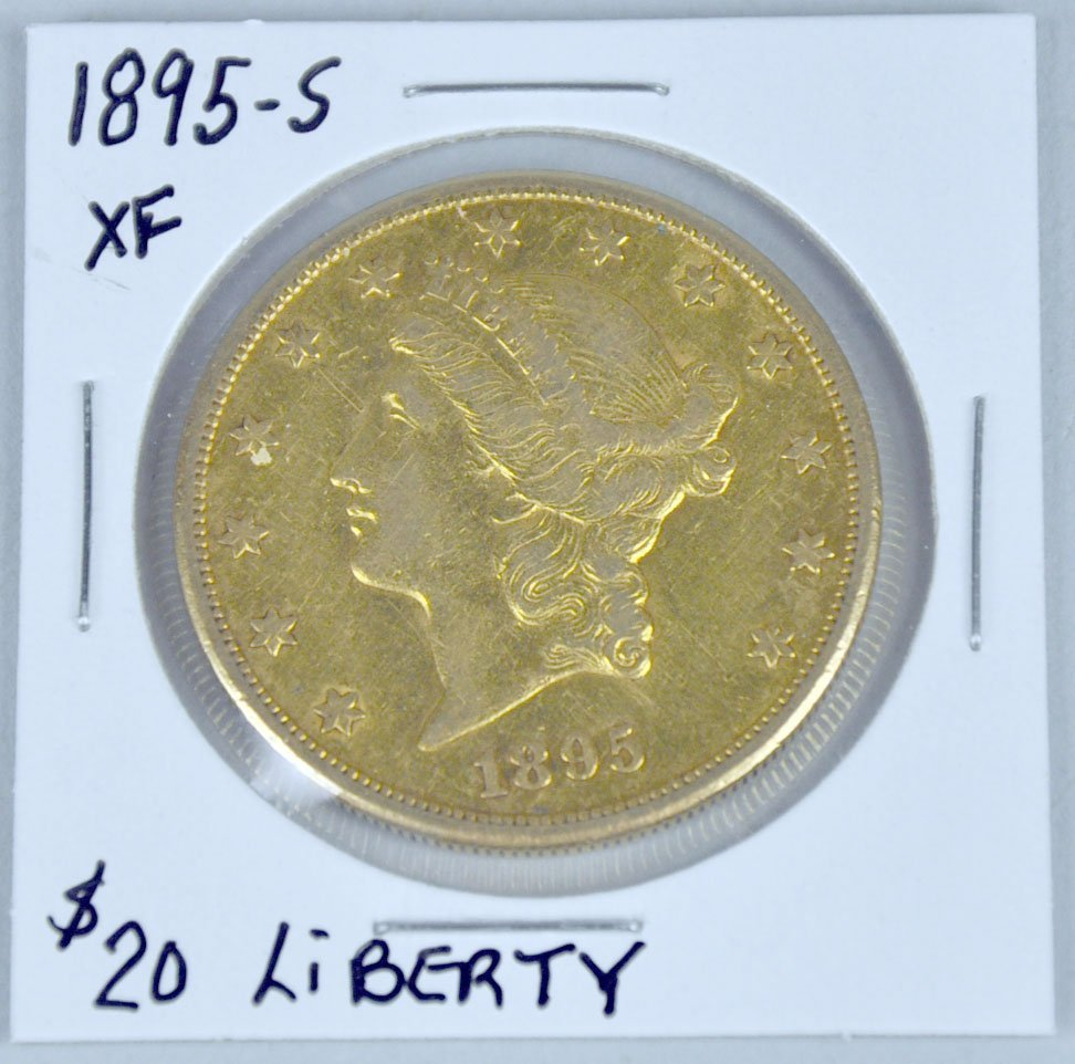 1895-S Liberty $20 Gold Coin