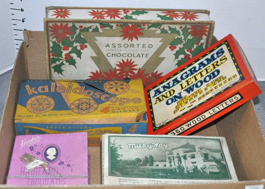 Bx - Vintage Candy Boxes & Toys