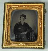 16th Plate Ruby Ambrotype of Young Man