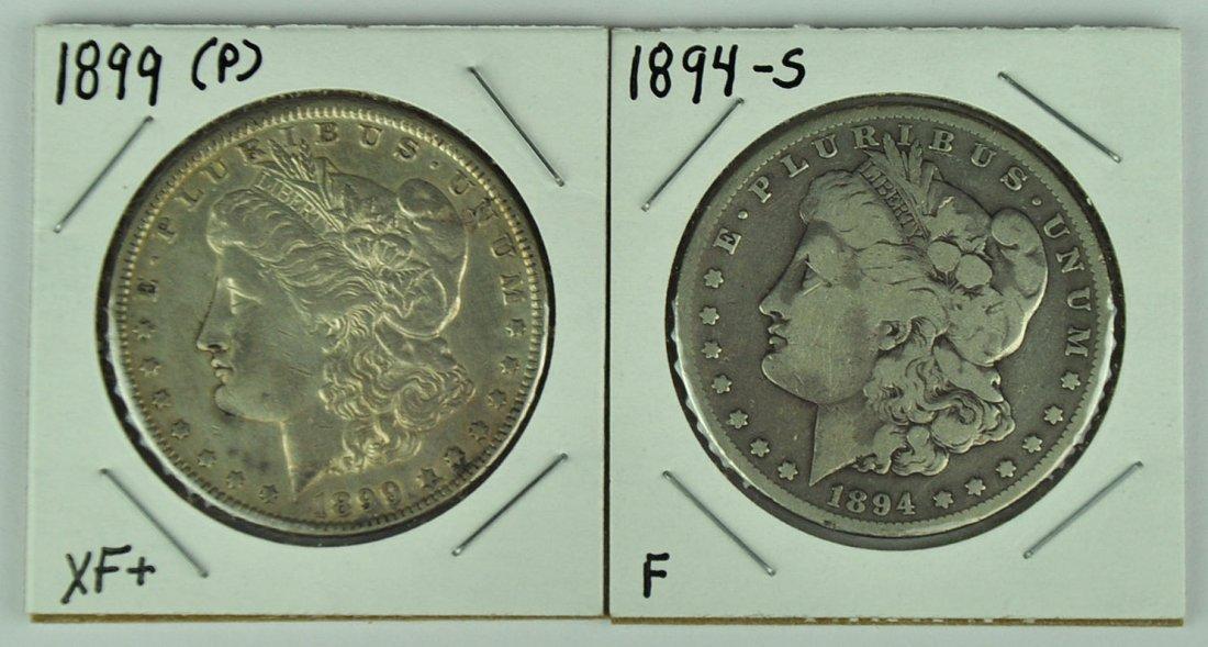 1899 & 1894-S Morgan Dollar
