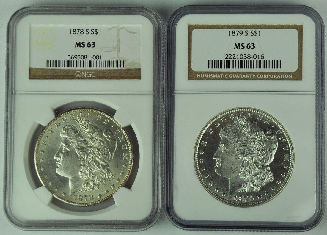 1878-S & 1879-S Morgan Dollars