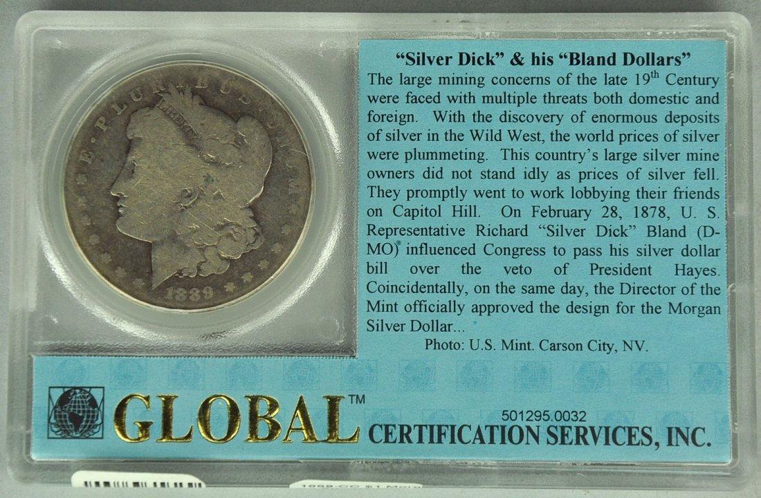 Rare 1889-CC Morgan Dollar