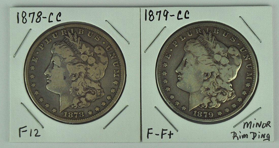 Two Morgan Dollars