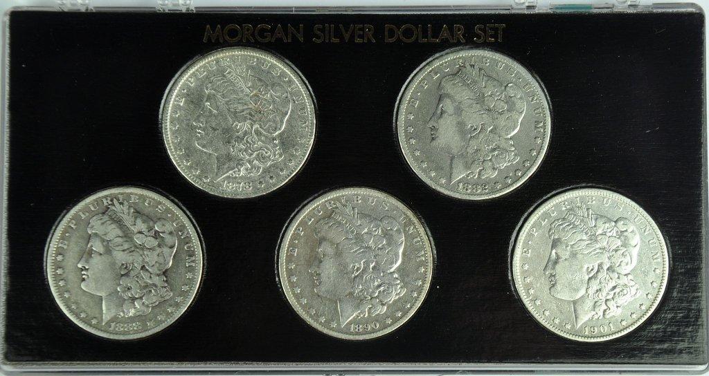 Five Morgan Dollars