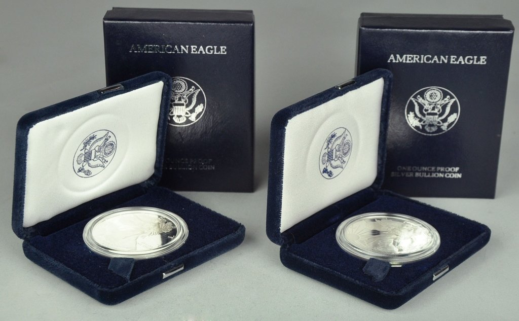 Two Proof Silver Eagles