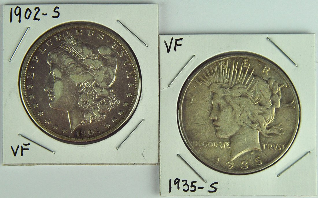 Two Better Date Silver Dollars