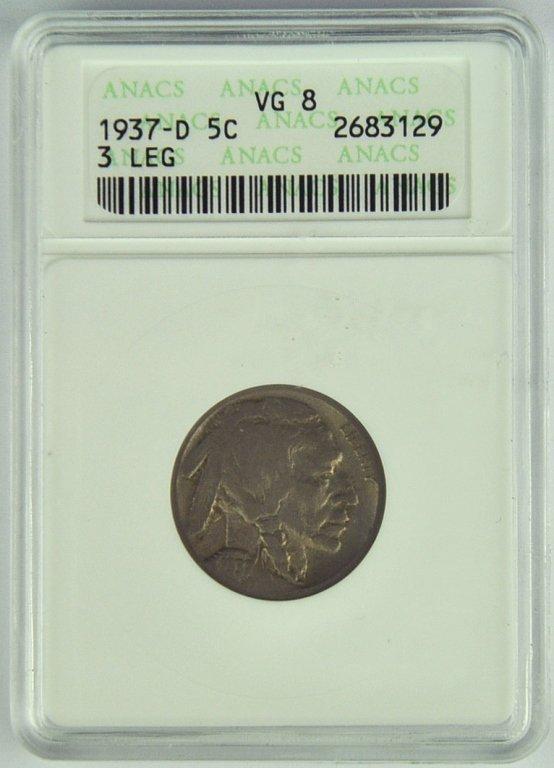 Very *Rare* Three-Leg Buffalo Nickel