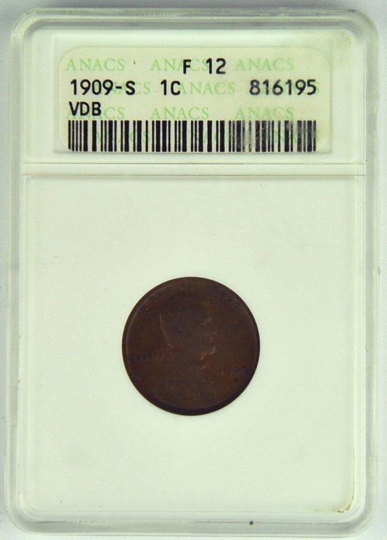 Very *Rare*  1909-S V.D.B. Lincoln Cent