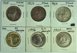 Group of 6 U.S. Commemorative Half Dollar Coins