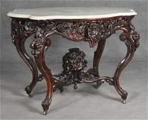 John Henry Belter Turtle-Top Parlor Table