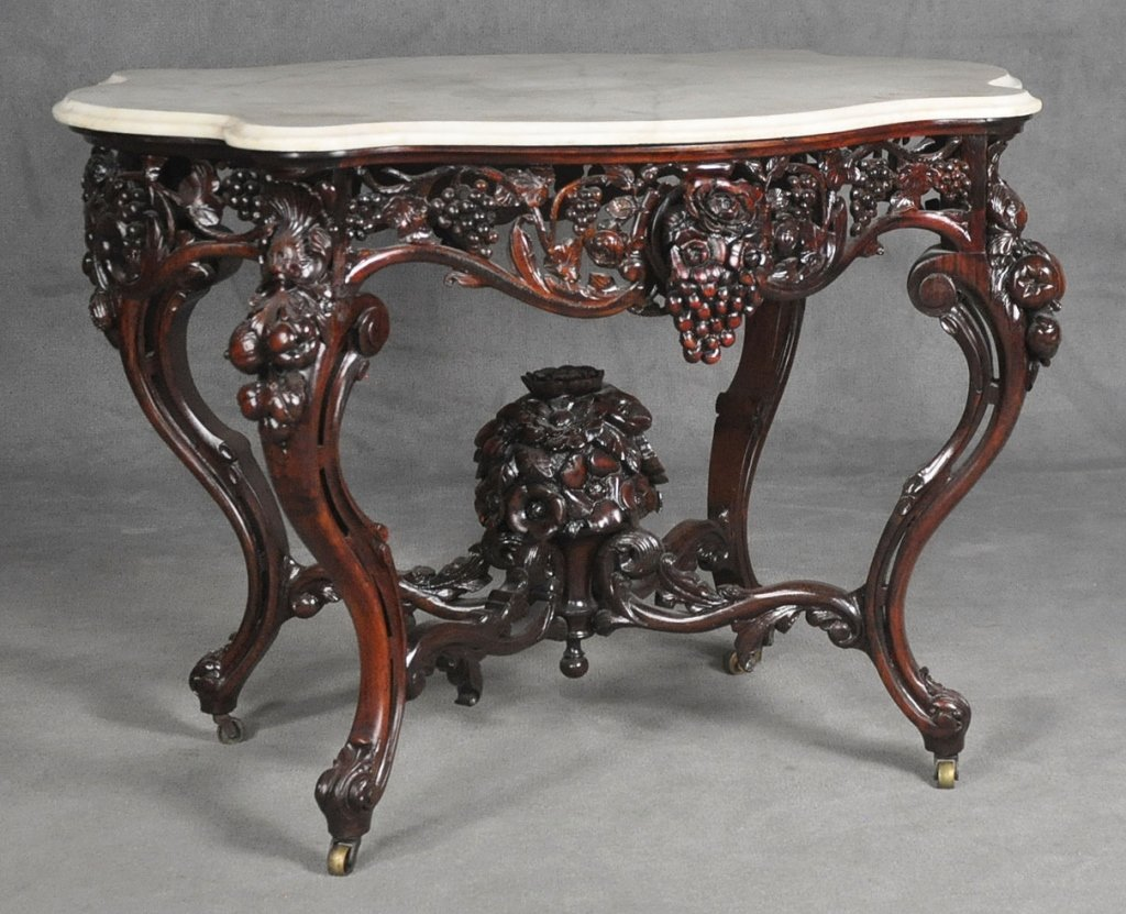 Henry belter turtle top parlor table john henry belter turtle top parlor table geotapseo Gallery