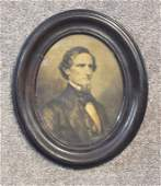 Period Lithograph of Jefferson Davis
