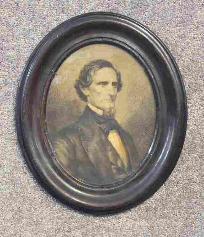Period Lithograph of Jefferson Davis