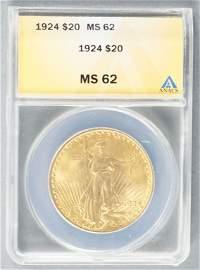 1924 Saint Gaudens $20 Gold Coin