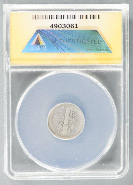 Rare 1916-D Mercury Dime - 2