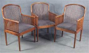 "Group of Three Knoll ""Exeter"" Arm Chairs"
