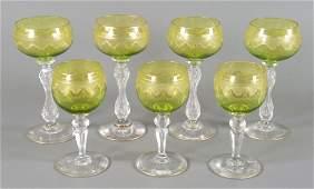 Seven Baccarat Wine Stems