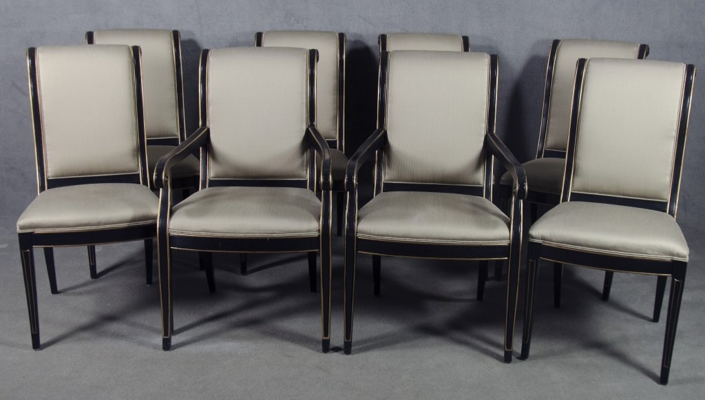 Set of Eight Henredon Regency-Style Side Chairs