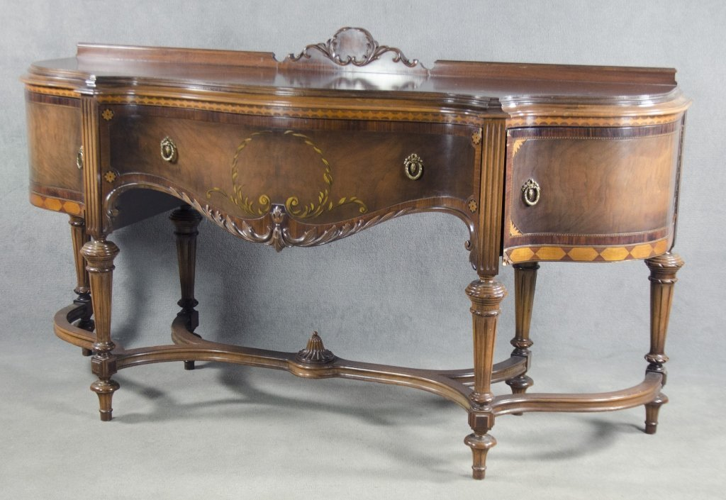 French-Style Serpentine Sideboard