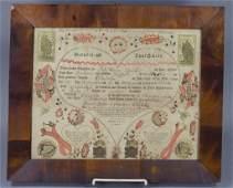 Printed & Lettered Taufscheine Fraktur