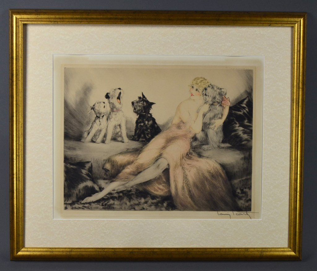 """""""Perfect Harmony"""" Signed Print By Louis Icart"""