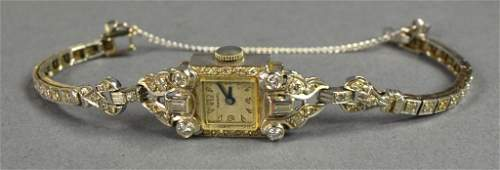 14K White Gold Harvel Ladies Watch