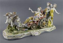Large Dresden Porcelain Figural Group