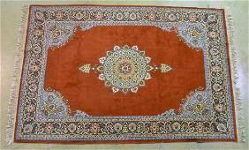 Handwoven Wool on Cotton Oriental Rug