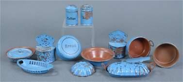 Vintage Tin Toy Kitchen Utensils