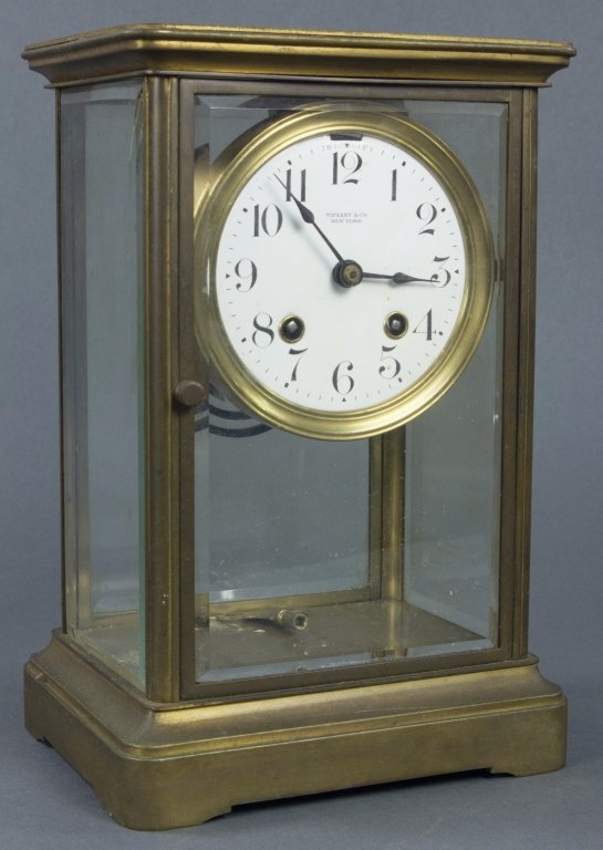 Brass Tiffany & Co. Mantel Clock