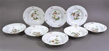 Eight Herend China Rim Soups
