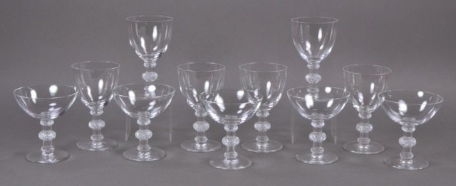 Group of Lalique Saint-Hubert Glasses