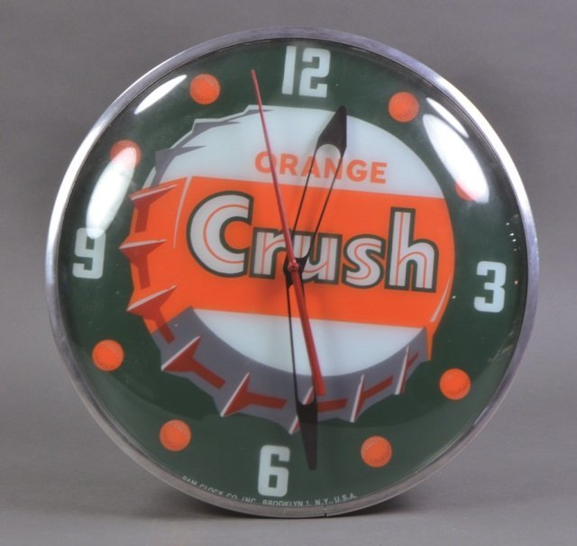 Orange Crush Bubble Clock